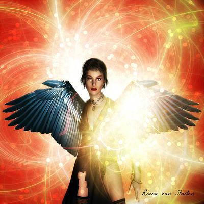 Digital Art - Healing Angel  by Riana Van Staden