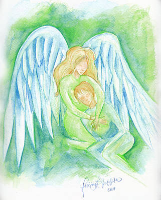 Comfort Painting - Healing Angel by Tricia Griffith