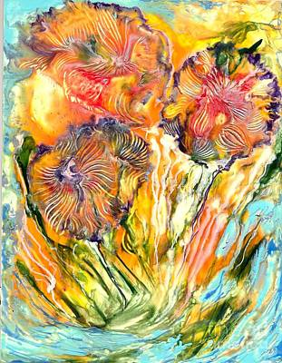 Healing Blossoms For Heather Ward Art Print by Heather Hennick