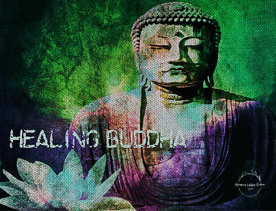 Digital Art - Healing Buddha by Absinthe Art By Michelle LeAnn Scott