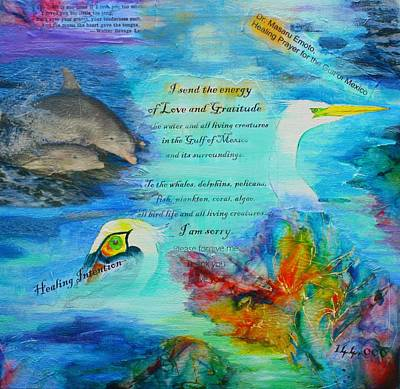 Painting - Healing Energy For The Gulf Of Mexico by Tara Moorman