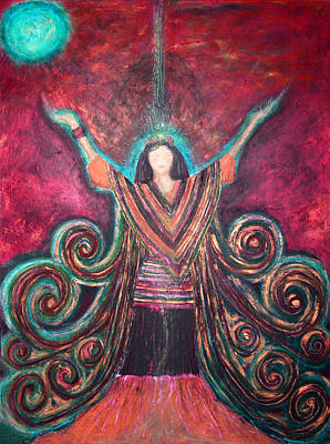 Healing Energy Art Print by NARI - Mother Earth Spirit