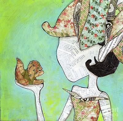 Mixed Media - Healing Fairy by Annalisa Loevenguth