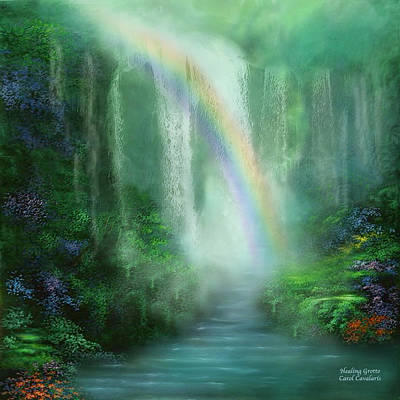 Chakra Rainbow Mixed Media - Healing Grotto by Carol Cavalaris