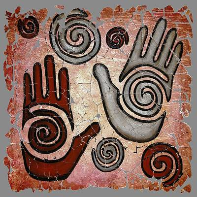 Healing Hands Fresco  Art Print