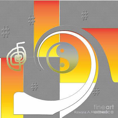 Digital Art - Healing Hash Tag by Rizwana Mundewadi