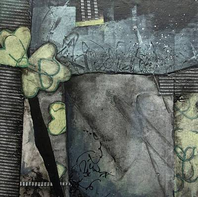 Black Mixed Media - Healing Hearts by Laura Lein-Svencner