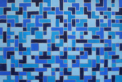 Tetris Block Painting - Nervous System Recalibration - Healing Images by Sabina Jandura