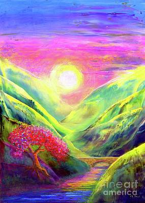 Hill Painting - Healing Light by Jane Small
