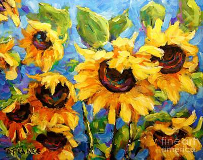 Healing Light Of Sunflowers Art Print