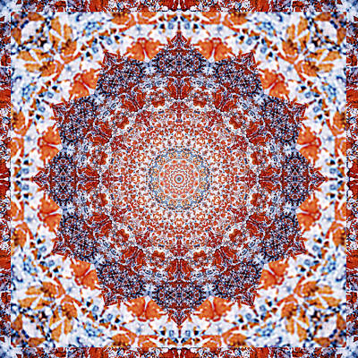 Spiritual. Geometric Photograph - Healing Mandala 2 by Bell And Todd