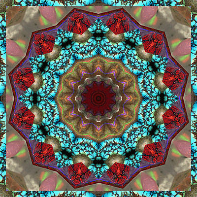 Sacred Geometry Photograph - Healing Mandala 35 by Bell And Todd