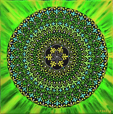 Painting - Healing Mandala by Olesea Arts