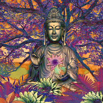 Quanyin Mixed Media - Healing Nature by Christopher Beikmann
