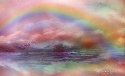 Rainbow Art Mixed Media - Healing Ocean by Carol Cavalaris