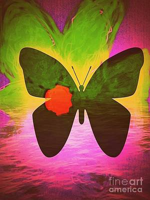 Healing Of The Butterfly Art Print