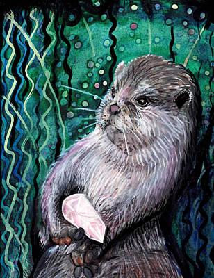 Painting - Healing Otter by Kimbo Jackson