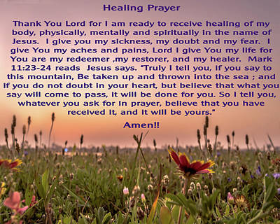 Photograph - Healing Prayer by Leticia Latocki