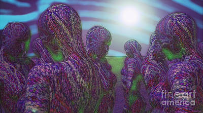Digital Art - Healing Through Meeting by Mando Xocco