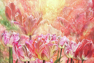 Mixed Media - Healing Tulip Garden 2 by Carol Cavalaris