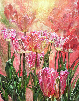 Mixed Media - Healing Tulip Garden by Carol Cavalaris