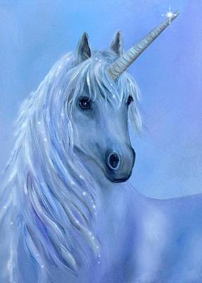 Fantasy Wall Art - Painting - Healing Unicorn by Sundara Fawn