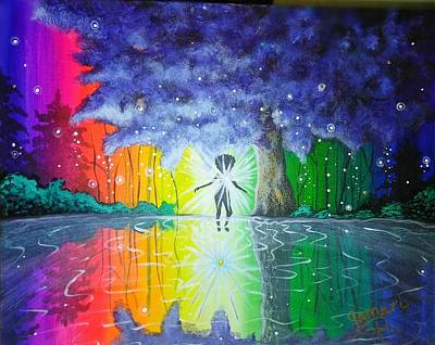 Fantasy Painting - Healing Waters by Artist Jamari