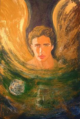 Painting - Healing With The Golden Light by Alma Yamazaki