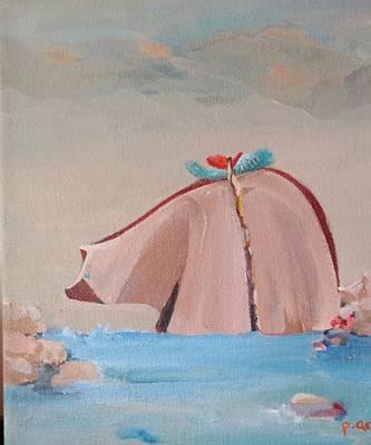 Navaho Painting - Healingbearaqua by Paula Acosta