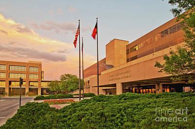 Photograph - Health Sciences Center Landscape by Mae Wertz