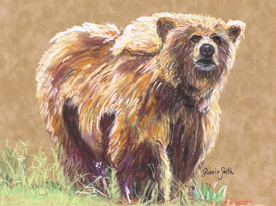 Healthy Brown Bear Art Print by Gloria Smith