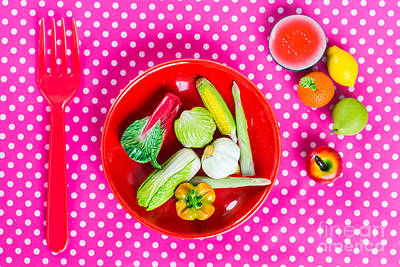 Photograph - Healthy Food Toys by Voisin Phanie