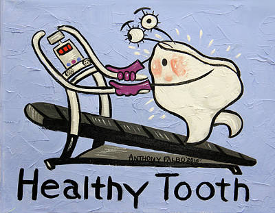 Shower Curtain Digital Art - Healthy Tooth by Anthony Falbo