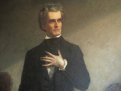 Calhouns Painting - Healy's Portrait Of John C. Calhoun by George Peter Alexander Healy