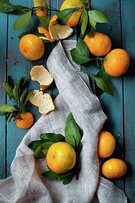 Featured Tapestry Designs - Heap of mandarines by Svetlana Imagineisle by Svetlana Imagineisle