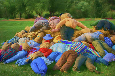 Photograph - Heap Of Scarecrows by Nikolyn McDonald
