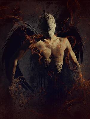 Dark Angels Digital Art - Hear No Evil by Mary Hood