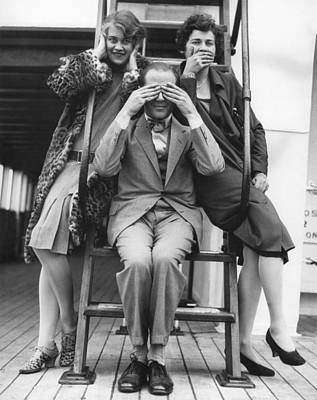 See No Evil Photograph - Hear, See, Speak No Evil by Underwood Archives