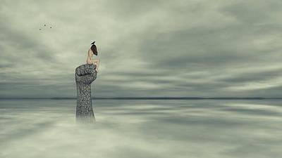 Corvid Digital Art - Hear The Corvids Cry by Thornback