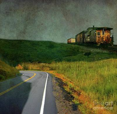 Freight Train Photograph - Hear The Ghostly Voice Of The Hobo by AJ Yoder