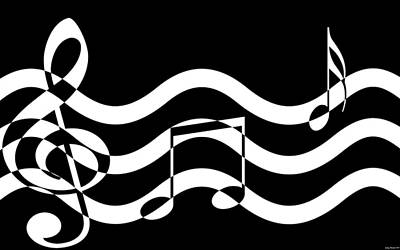 Sound Digital Art - Hear The Music by Evelyn Patrick