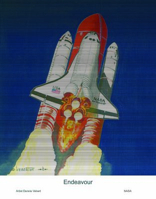 Space Ships Painting - Hear The Rumble Feel The Heat by Dennis Vebert