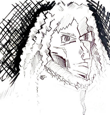 Drawing - Hear The Sound by John Jr Gholson