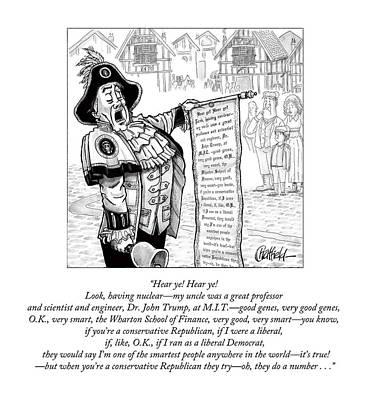 United States Drawing - Hear Ye Hear Ye by Jason Chatfield and Scott Dooley