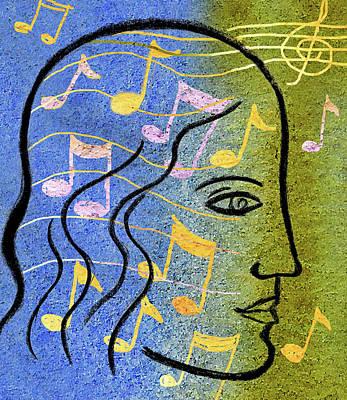 Music Inspired Art Painting - Hearing Music by Leon Zernitsky