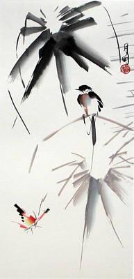 Hearing Rain  Art Print by Ming Yeung