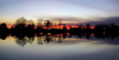 Hearns Pond Photograph - Hearns Pond Silhouette by Brian Wallace