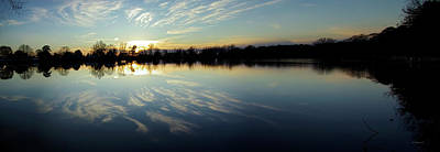 Photograph - Hearns Pond Sunset Reflections - Pano by Brian Wallace
