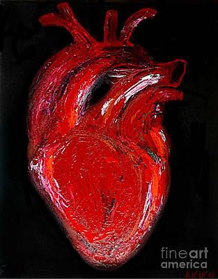 Analog Painting - Heart by Akiko Okabe