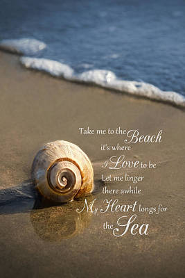 Photograph - Heart And Sea by Robin-lee Vieira